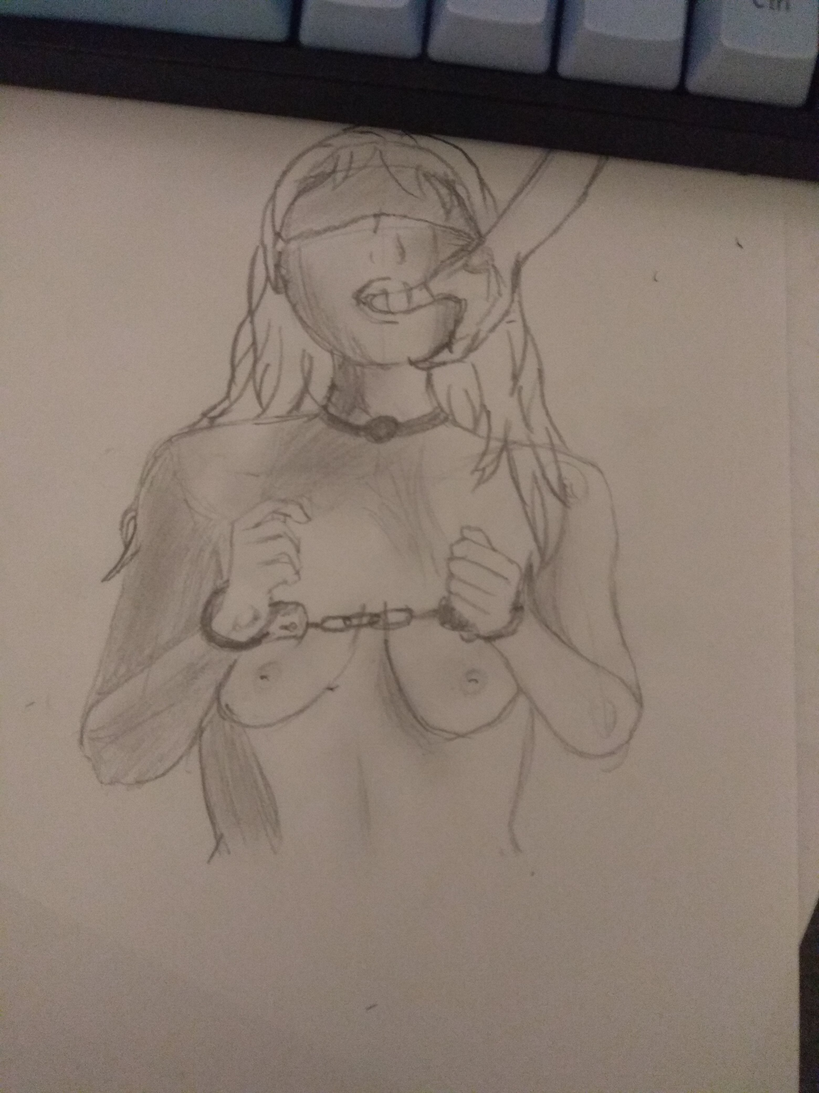 A first drawing, a few eye placement issues and the chest looks a bit off